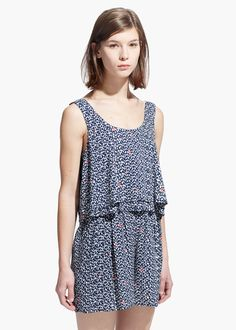 Heart short jumpsuit