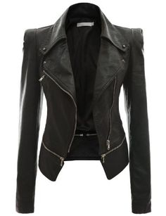 Doublju Women's Zipper Point Simple Faux Leather Jacket BLACK L Doublju,http://www.amazon.com/dp/B00BM1HMXY/ref=cm_sw_r_pi_dp_pEtTrb06EQKT5BZ5