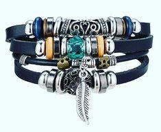 Vintage Wing Leather Bracelet for Men Woman Jewelry Leather Charm Bracelets, Bracelets For Men, Fashion Bracelets, Bangle Bracelets, Bangles, Ocean Jewelry, Boho Jewelry, Jewelry Party, Jewelry Gifts