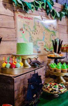 Neverland Peter Pan + Tinkerbell Themed Birthday Party via Kara's Party Ideas KarasPartyIdeas.com Printables, cake, tutorials, favors, games, and more! #peterpan #tinkerbell #peterpanparty #tinkerbellparty #neverlandparty #neverlandbirthdayparty (10)