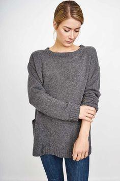 oversized grey wool jumper