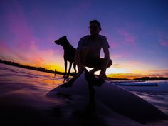 Photo of the Day! Trevor DeHaas and his dog Kahlua out for a sunset paddleboard session.    It's GoPro Animal Month! Be sure and submit your best content here: g.gopro.com/animal-submit