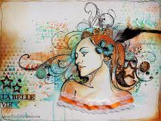 La Belle Vie by Riikka Kovasin done in Version Scrap workshop by Alexis Toupet
