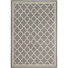 Safavieh Poolside Anthracite/ Beige Indoor Outdoor Rug (6'7 x 9'6) - Overstock Shopping - Great Deals on Safavieh 7x9 - 10x14 Rugs