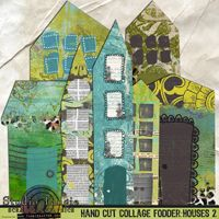 This is really intriguing, could I find my dream house and then make it out of my extra scrapbook paper on canvas?