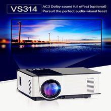 Mini Proyector Full HD 1500 Lúmenes VS314 LED 800×480 píxeles 0.9-6 M Home TV Reproductor Multimedia Portátil Cine En Casa