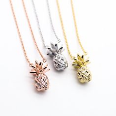 Beautiful Jewelry Pineapple stone necklace - Yellow Gold / Silver / Rose GoldPlated Cubic Zirconia details Pendant measures about x Length about Cute Jewelry, Jewelry Box, Silver Jewelry, Jewelry Accessories, Silver Ring, Flower Jewelry, Flower Bracelet, Flower Necklace, Silver Earrings