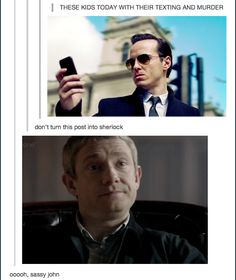 These kids today with their texting and murder. Click through for sassy John gif