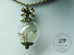 Halskette - Pusteblume - Bronze von Mademoiselle Claire - Nostalgieschmuck auf DaWanda.com