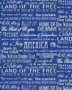 Proud to be American - Words of Pride - Delft Blue