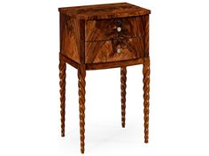 Jonathan Charles Twist collection Tropical Walnut Crotch End Table