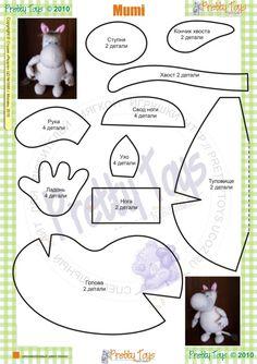 DIY Moomin Stuffed Animal Toy - FREE Sewing Pattern
