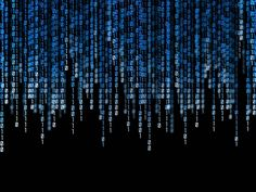 Love tthis binary code background...could almost be like the backdrop to our own story. Love u, Chris.