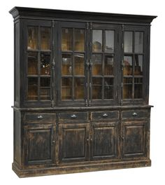 Dining Room Storage Cabinets - Sideboards & Buffets - The Windsor Hutch Cabinet. - Dining Room Storage Cabinets – Sideboards & Buffets – The Windsor Hutch Cabinet will have room - diy Dining room hutch Dining Room Storage, Dining Room Hutch, Paint Furniture, Bar Furniture, Servers Furniture, Brown Furniture, Furniture Storage, Rustic Hutch, Distressed Hutch