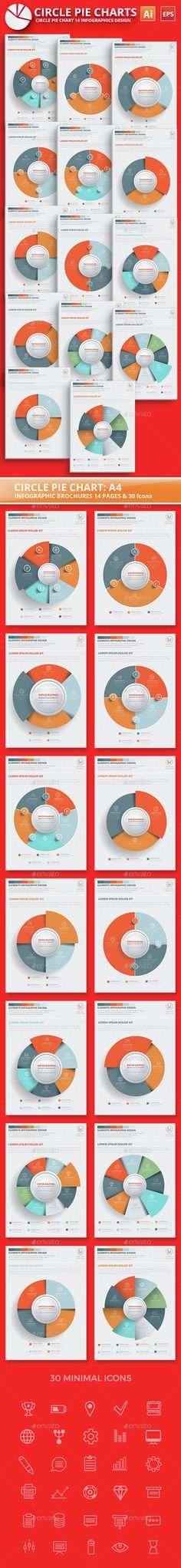 Circle Pie Chart Infographic Elements Design Template Vector EPS, AI. Download here: http://graphicriver.net/item/circle-pie-chart-infographic-elements-design/15117344?ref=ksioks