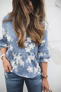 The color of that shirt is my favorite and my favorite to wear!! I love periwinkle.