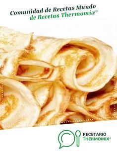 Masa para crepes por Thermomix®. La receta de Thermomix<sup>®</sup> se encuentra en la categoría Básicas en www.recetario.es, de Thermomix<sup>®</sup> Thermomix Bread, Thermomix Desserts, Cheese Bites, Grubs, Yummy Treats, Blueberry, Peanut Butter, Buffet, Snack Recipes