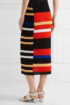 Proenza Schouler - Striped Crochet-knit Midi Skirt - Red - x small