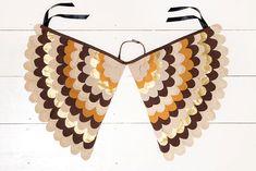 Fancy Dress Costume Bird Wings, Fairy Wings, Super Hero Wings, Toddler Pretend Play Accessory - The Owl Wings.