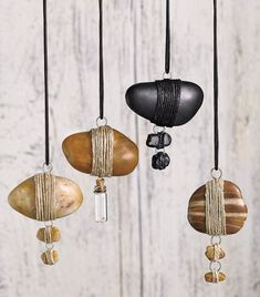 River Stone Hemp Wrapped Custom Made Necklaces by RiverstoneFinds ~ $40