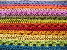 If you're stressed about work or the holidays, try working up this Relaxing Rainbow Crochet Blanket. We can guarantee that you won't want to stop crocheting this afghan.