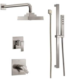 View the Delta DSS-Ara-17T01 TempAssure 17T Series Thermostatic Shower System with Integrated Volume Control, Shower Head, and Hand Shower - Includes Rough-In Valves at FaucetDirect.com.
