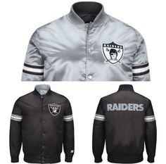 Authentic Oakland Raiders Reversible Starter NFL satin  jacket - black   Sports Mem, Cards & Fan Shop, Fan Apparel & Souvenirs, Football-NFL   eBay!