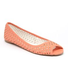 0e292db961753 This Coral Marie Cutout Flat is perfect!  zulilyfinds Open Toe Flat Shoes