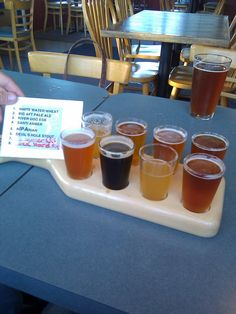 Calapooia Brewing Tasting Tray! If you're ever in Albany, Oregon...GO!