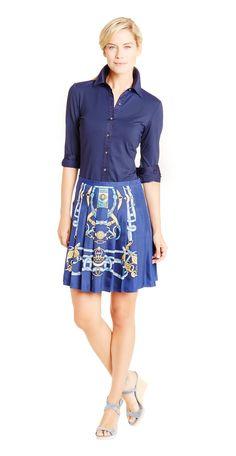 Adora Silk Skirt in Cheshire