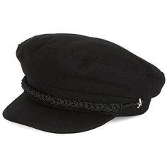 Lauren Ralph Lauren Fisherman Cap ($45) ❤ liked on Polyvore featuring accessories, hats, black, star caps, star hat, metallic hat, cap hats and lauren ralph lauren