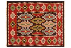 """AMAZING collection of rugs. """"KINETIC RUGS  Resplendent with tribal patterns and palettes, these Navajo, kilim, and other flat-weave rugs bring a worldly energy to a room that transcends trends and complements contemporary and traditional settings alike."""""""