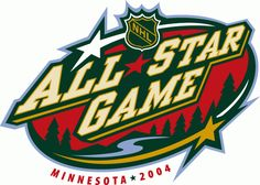 NHL All-Star Game Primary Logo on Chris Creamer's Sports Logos Page - SportsLogos. A virtual museum of sports logos, uniforms and historical items. Nhl Logos, Hockey Logos, Sports Logos, Nhl All Star Game, Wild North, Mlb World Series, Badge Design, Logo Design, Minnesota Wild