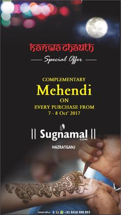 This Karwa Chauth, Gift Her Something She Desires. ✯ Festive Season Offer ✯ Buy & Get ✯ complementary Mehendi ✯ on 7th & 8th Oct. ✯ Website:http://sugnamal.com/category/?cat=Shop+Women&&subcat=Gowns Order on call: 0522-4005453 Order on whatsapp: 8418888893 #saree #suits #lehenga #gowns #sherwani #kurti #indowestern #bridal #zari #chanderi #sherwani #suiting #shirting #new_arrival #fresh #reasonable #happy_cutomers #shop_india #sugnamal_india #new_design #new_colors #blue #rani_pink…