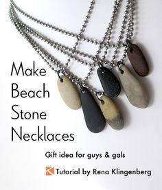 Make Beach Stone Necklaces - Tutorial by Rena Klingenberg