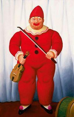 Clown by Botero