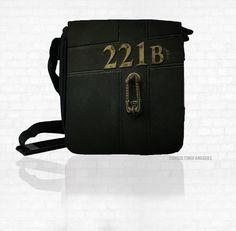 SHERLOCK BBC 221 B Door  NEW Small Messenger by ConsultingFanGeeks, $29.99