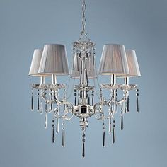 """Princess Collection 23"""" Wide 5-Light Chandelier"""