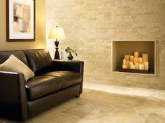 Florida Tile Fireplace contemporary-living-room