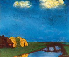 Emil Nolde, Frisian Farm on a Canal, 1935, oil on canvas, 73.5 x 88.5, Nolde Stiftung Seebüll