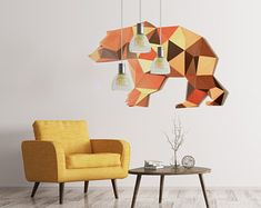 Grizzly / 3D wall decoration / paper model / jigsaw puzzle / PDF / low poly origami