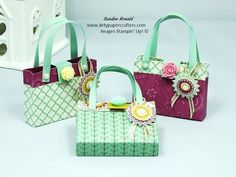 Mini Handbag/Purse using Stampin' Up products - YouTube