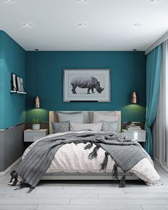 Bedroom ideas for couples romantic · colorful and playful turquoise bedroom walls, teal master bedroom, relaxing master bedroom, bedroom Light Teal Bedrooms, Turquoise Bedroom Walls, Teal Master Bedroom, Teal Bedroom Decor, Romantic Bedroom Colors, Relaxing Master Bedroom, Bedroom Wall Colors, Woman Bedroom, Small Room Bedroom