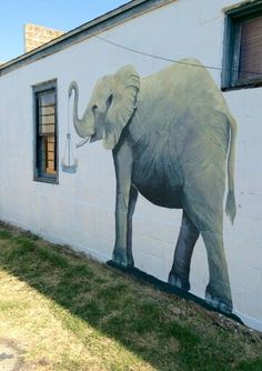 Adorable work of art in one of the allies of Mason, Tx. just one more reason Iwant to go to Mason, TX!