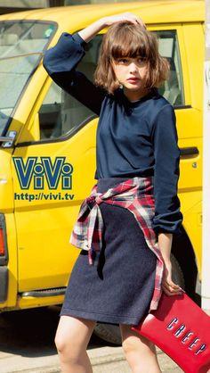 ViVi2013年12月号スマホ壁紙(玉城ティナ)