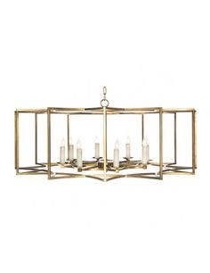 Chan Geo Collection Look # 2 Chandelier, Gold