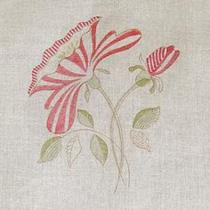Red Rose Linen Fabric - 302