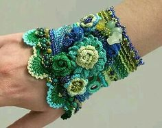 Beautiful blue and green cuff