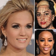 All the Gorgeous Grammys Makeup Up Close