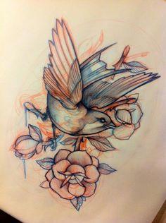 Beautiful bird drawing